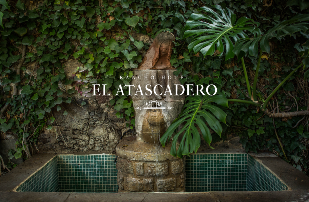 Photo of Hotel El Atascadero Fountain and Logo